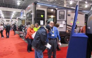 Shopping for new RV at Camper & RV Show