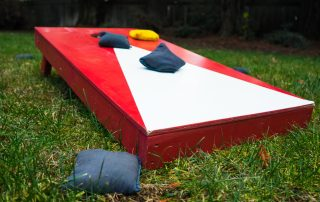 Cornhole Playing Board and Beanbags